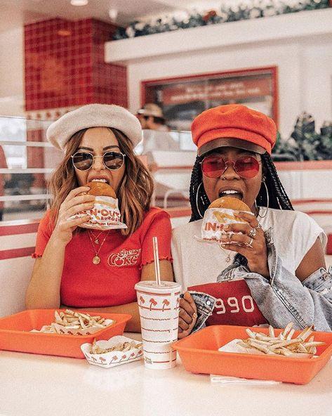 Girls und In N Out Burgers