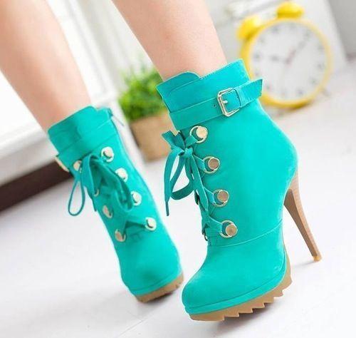 Resultado de imagen para zapatos de 15 verde agua