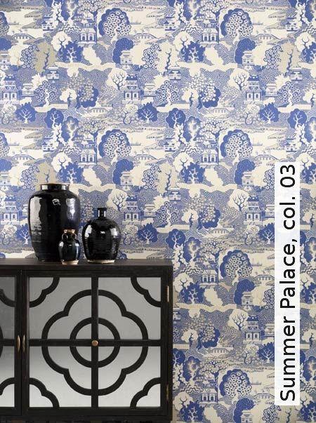 Tapete Orientalisch Blau : Tapeten auf Pinterest Eames Sessel, Villen und Tapete