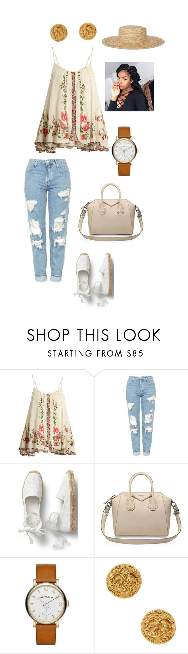 """""""amber"""" by crooked-smile78 on Polyvore featuring Mes Demoiselles..., Topshop, Givenchy, Marc by Marc Jacobs, Chanel and Amaya"""