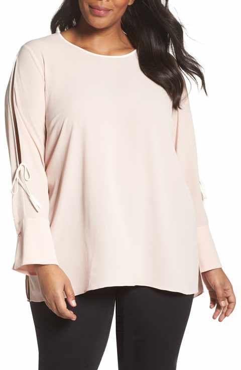 1f36fe81da710 Vince Camuto Bell Cuff Split Sleeve Shirt (Plus Size)