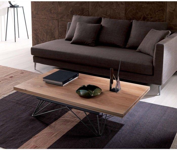 Auziehbarer Hhenverstellbarer Couchtisch Mit Stauraum Ozzio Radius Adjustable Table