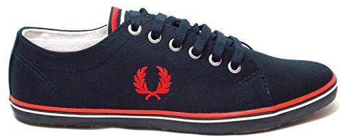Fred Perry Kingston Twill B6259608, Herren Sneaker - http://on-line-kaufen.de/fred-perry/fred-perry-kingston-twill-b6259608-herren