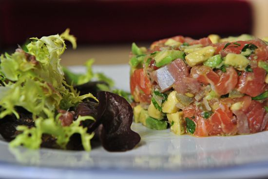 Tartar salmon avocado - Serve this on endive leaves (my personal secret) So Delicious!!