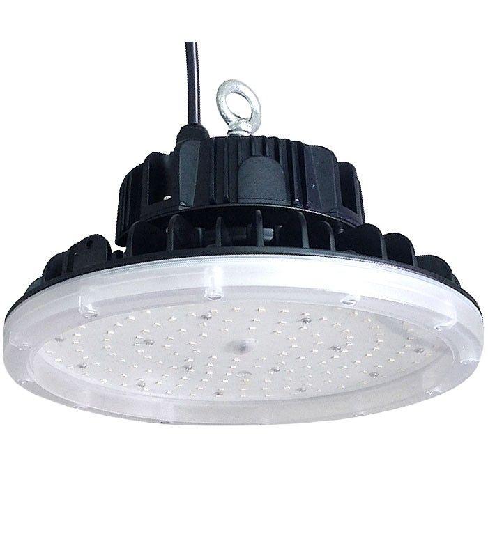 """La nueva serie Led Ufo """"Clase Invictus"""" 160lm/w 240W Meanwell Osram 38.400 lm IP65 CRI80 posee las mejores características del mercado por que utiliza la más moderna tecnología en iluminación LED de la casa OSRAM. Destaca su eficiencia lumínica por ser la única en alcanzar 160lm/w. Gracias a su grado de protección IP65 es resistente al agua y al polvo, además de tener 7 años de GARANTÍA. Estas características otorgan a este ufo led las cualidades ideales para la iluminación interior y…"""