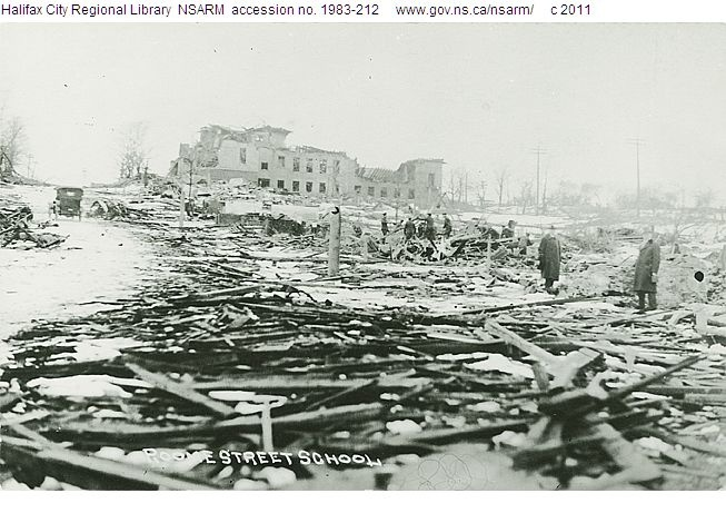 Devastation of Roome Street School, Pictures of Halifax Explosion that happened on Dec 6, 1917