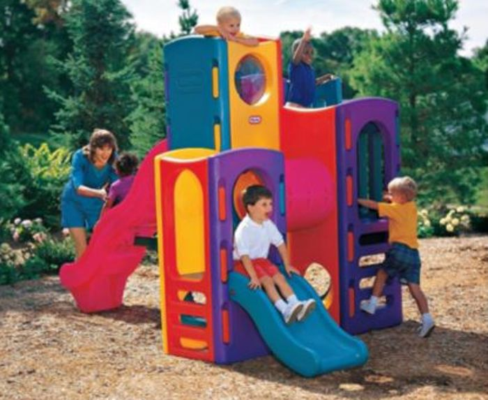The Little Tikes Tropical Playground Climbing Frame