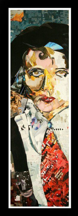 Collage on paper  Title: Portrait