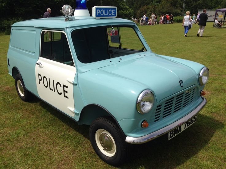 Cute vintage blue Police mini