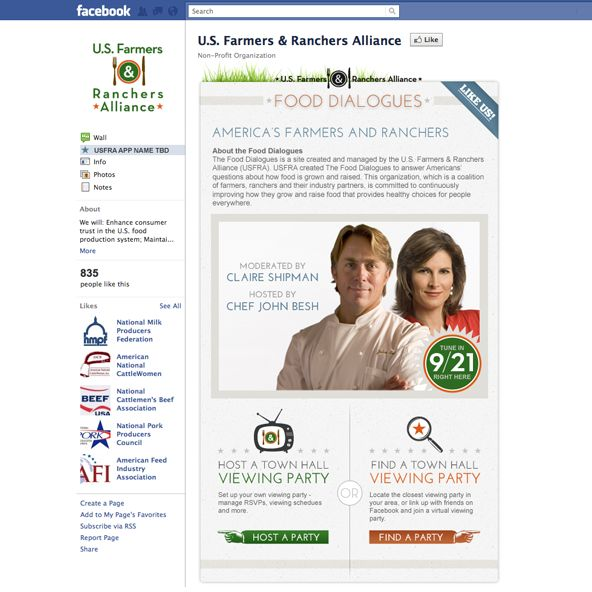 USFRA on Facebook by Bobira:  The U.S. Farmers & Ranchers Alliance (USFRA) needed to create awareness around their upcoming Food Dialogues event. Bobira and Ketchum were all ears!  Farmers, Ranchers and leaders in the food industry came together to discuss the state of food in the United States, and address the various rumors and myths surrounding it.