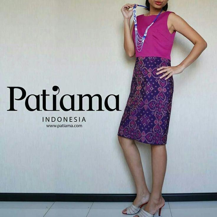 Patiama Indonesia dress played with tenun www.patiama.com