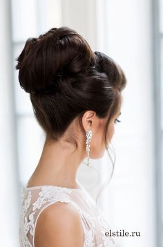 topknot wedding hairstyle updo