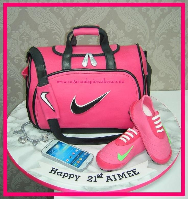 Nike Sports Bag with Soccer boots - Cake by Mel_SugarandSpiceCakes