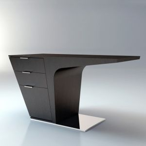 Future, Futuristic Furniture, Mercer Desk, Futuristic Interior, Wenge, Ted  Toledano,