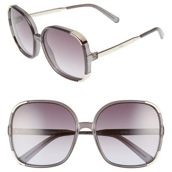 e4b8f94b8ffd Women s Chloe Myrte 61Mm Gradient Lens Square Sunglasses (995 BRL) ❤ liked  on Polyvore
