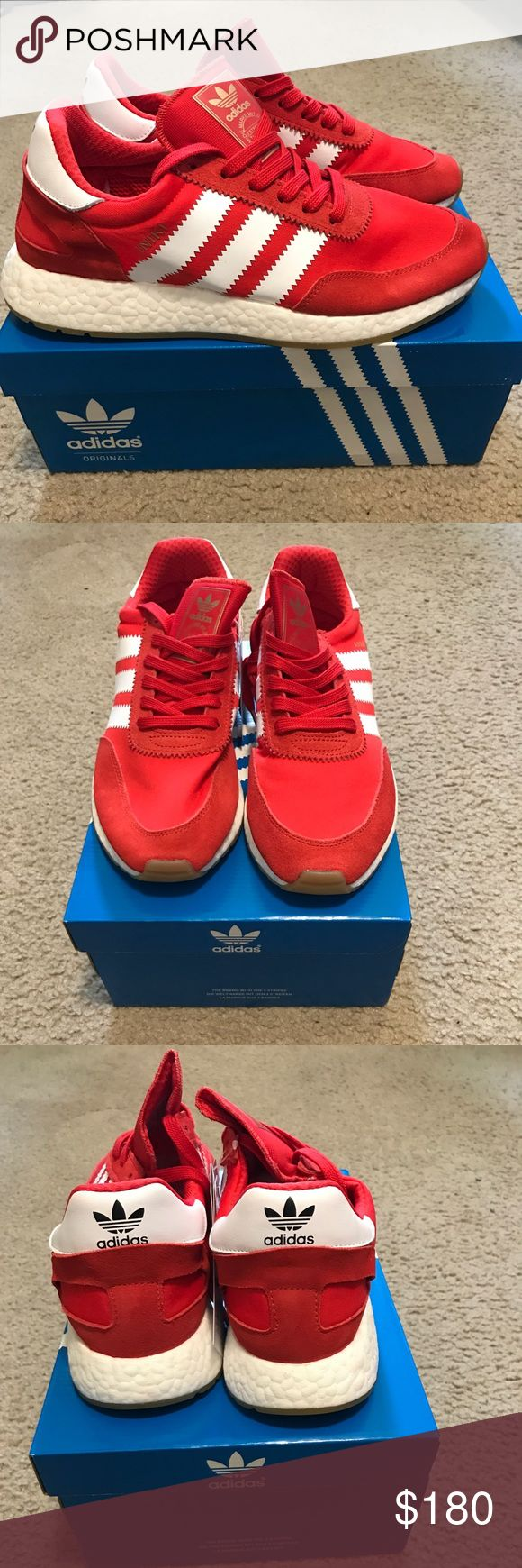 Adidas Iniki Runner red/white Retro styled runner from Adidas with the boost sole Adidas Shoes Sneakers