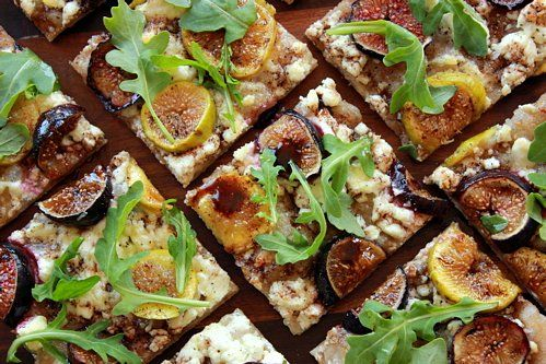 Gooey fresh figs, crumbly goat cheese, crisp whole wheat dough, spicy ...