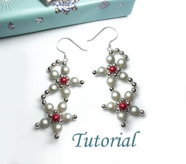 You have to see Glory Of Winter Flower Earrings Tutorial by Splendere!