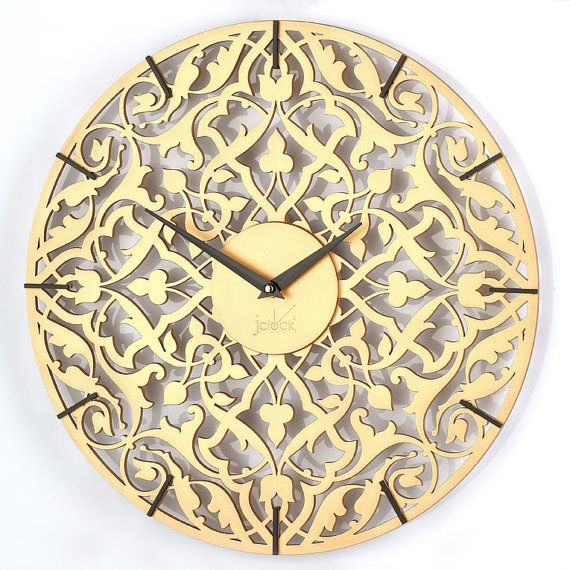 Modern wall clock, Handmade Clock, White clock, Round wall clock, Office wall clock, Chocolate clock, Gold wall clock, Personalised Clock. Wall clock, completely handmade. Created Russian designers in the creative studio. Our clocks are the best decoration of any interior. German,