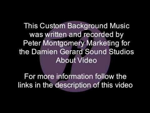 This Custom Background Music was written and recorded by Peter Montgomery Marketing for use in the Damien Gerard Studios About Video http://petermontgomerymarketing.com.au/the-about-video-we-made-for-damien-gerard-studios/ For more information on how to get custom background music made for your business videos please visit http://petermontgomerymarketing.com.au/custom-background-music-2/ or call: 0404 817 613