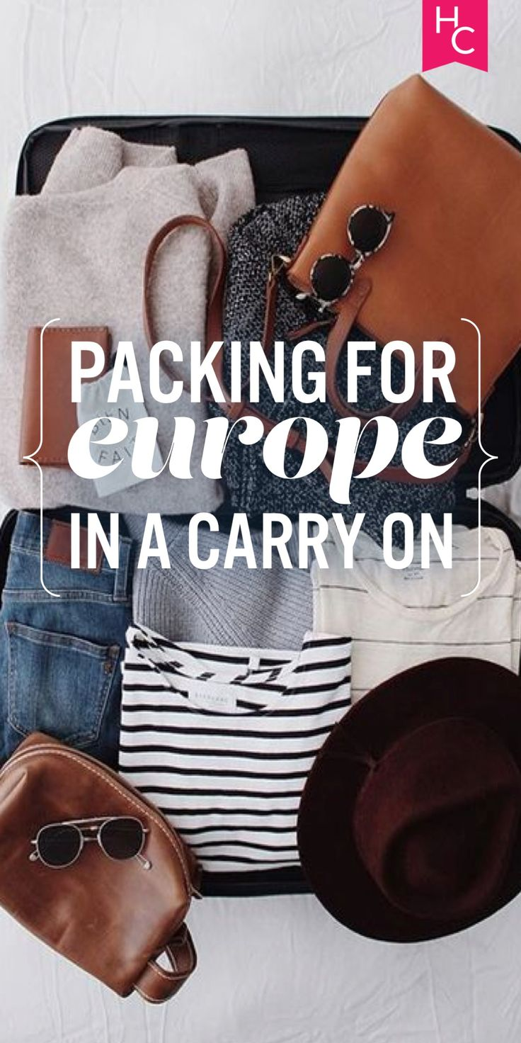 Proof That It's Possible to Pack for Europe in a Carry-On | Her Campus | http://www.hercampus.com/life/travel/proof-its-possible-pack-europe-carry