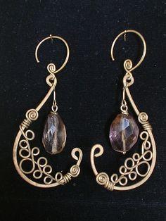 Amethyst Pitcher Earrings
