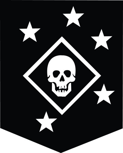 Usmc Logo Wallpaper: Raiders, Black And White And Black