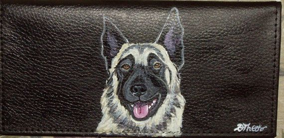 Belgian Malinois Dog Custom Painted Leather by daniellesoriginals, $18.95