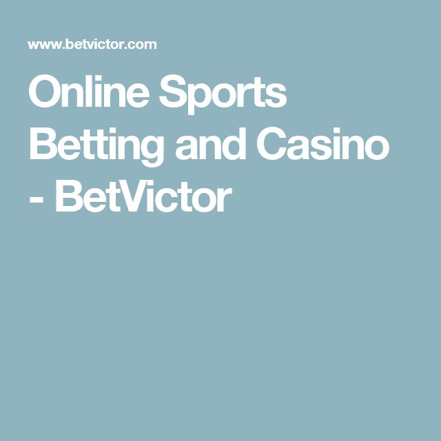 Online Sports Betting and Casino  - BetVictor
