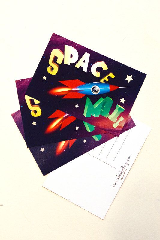 Space Mail Postcard
