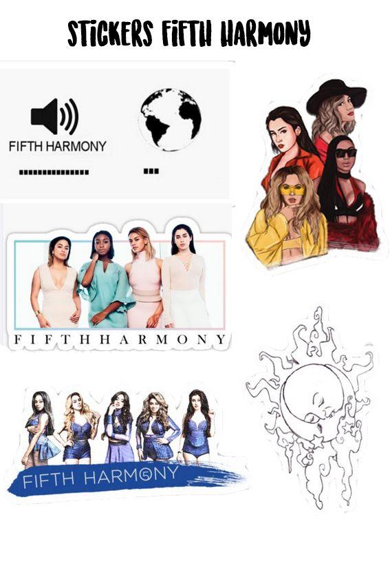 Plancha De Stickers Fifth Harmony Pegatinas