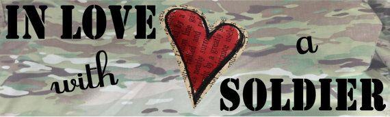 Army GIRLFRIEND Bumper Sticker In love with a by 2SistersThings, $6.99 #Army Girlfriend #Army Love #military #military girlfriend #bumper sticker