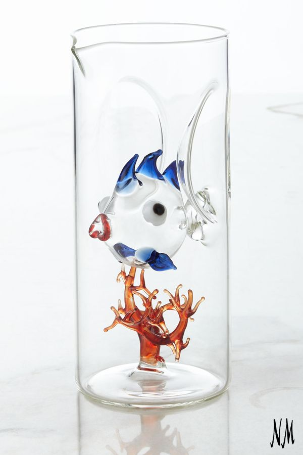 Pour refreshments with this whimsical piece inspired by the sea! This fish and coral carafe by Massimo Lunardon also serves well as eclectic decor for the kitchen or dining room.