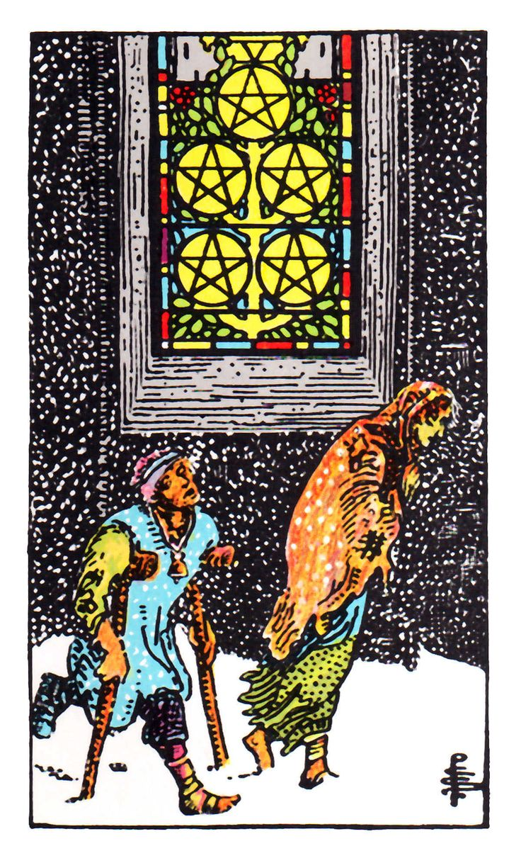 Five Of Pentacles ~ Rider Waite