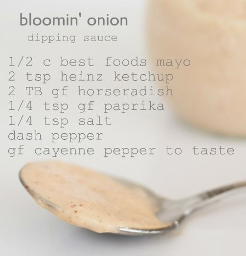 Bloomin' Onion Sauce Recipe ~ Says: It tastes just like the one from the Outback Steakhouse