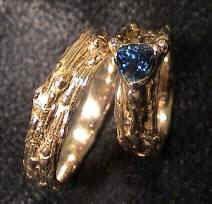 https://flic.kr/p/bsBNHG   Wedding Set   14 Karat Yellow Gold, 5mm Trillium Sapphire