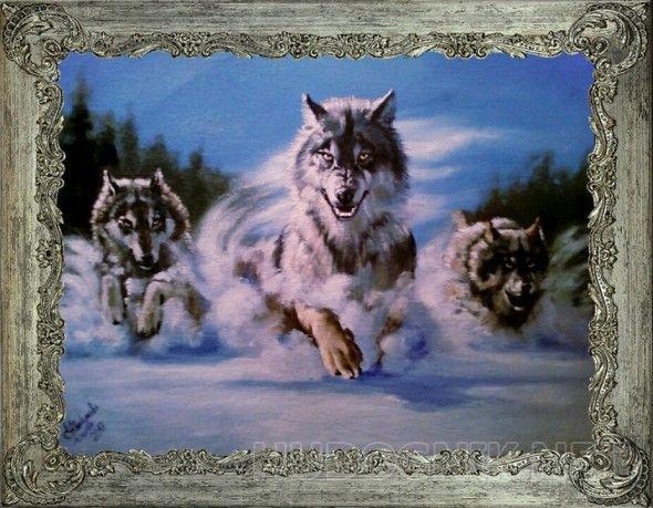 """Картина маслом """"Охота"""" Эта картина будет прекрасным подарком, а так же замечательно впишется в ваш интерьер."""