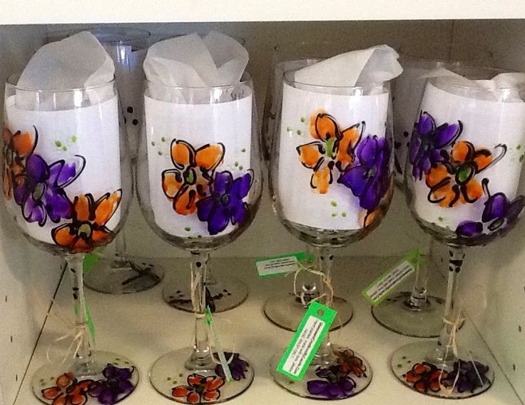 Flower designs - Glassware Creations by Laurie