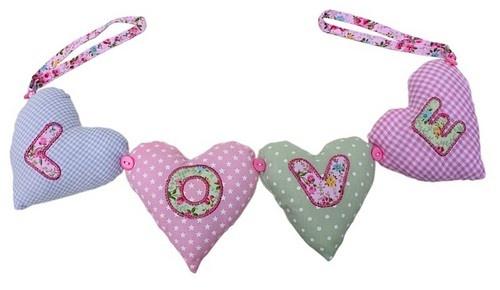 Hearts on Ribbon Pastel $11