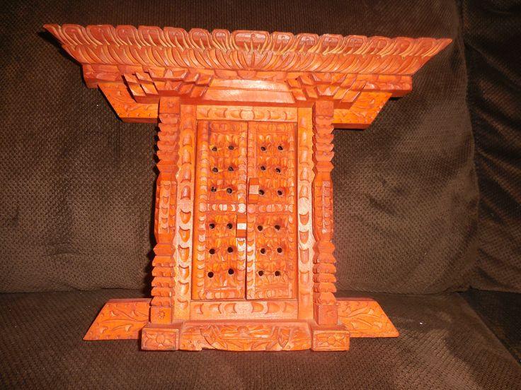 Wooden Buddhistdoor, Altar, Handcrafted in India, Vintage by ZephyrGemsandEtc on Etsy