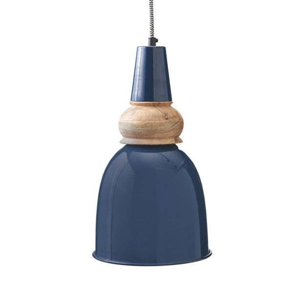 Color is in, and the Nob Hill Pendant Light brings a flash of gorgeous color as well as an intriguing design motif. You'll love the mix of glossy painted metal in a gorgeous blue with a sculpted natura...  Find the Nob Hill Pendant Light, as seen in the The Renovated Mill House Collection at http://dotandbo.com/collections/the-renovated-mill-house?utm_source=pinterest&utm_medium=organic&db_sku=101721