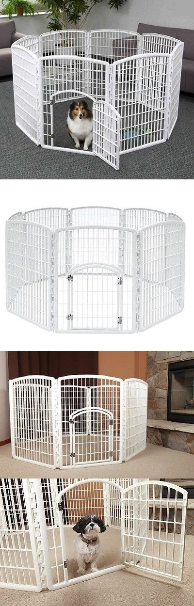 Fences and Exercise Pens 20748: Pet Exercise Pen White 8 Panel Heavy Duty Dog Kennel Puppy Folding Playpen Crate BUY IT NOW ONLY: $100.54