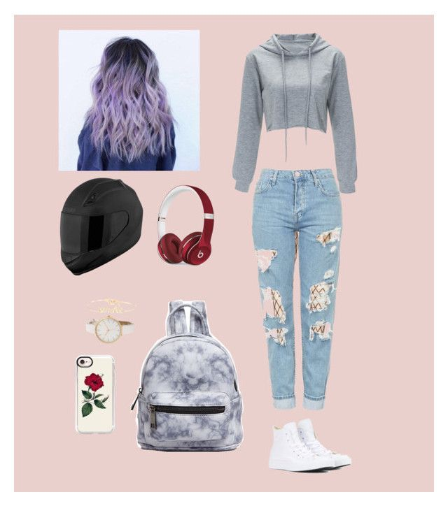 """""""Simple school outfit 👓"""" by jcloe1 ❤ liked on Polyvore featuring Leg Avenue, Topshop, Converse, Street Level, Casetify, Beats by Dr. Dre and Atelier Paulin"""