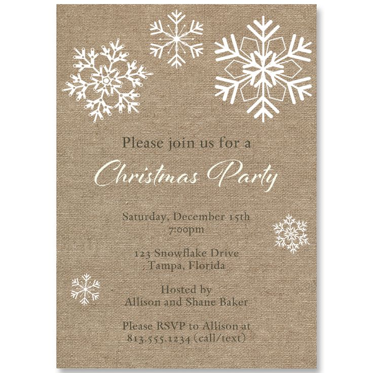 17 best Corporate Christmas party invitations images on Pinterest ...