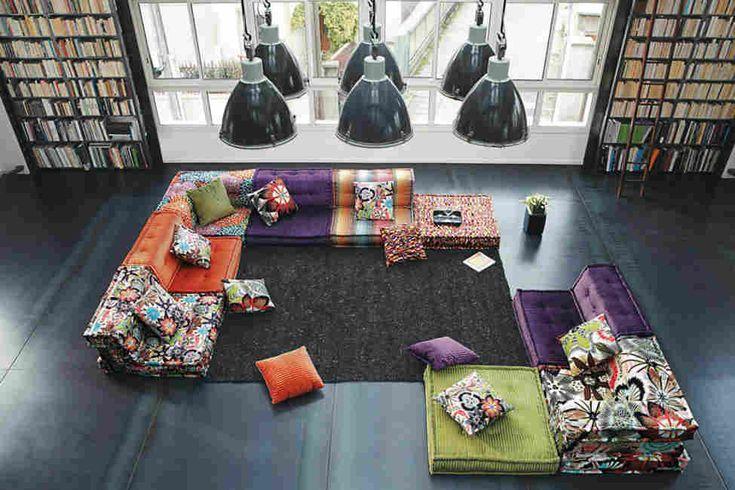 Красочный модульный диван Mah Jong — нет лучшего украшения интерьера