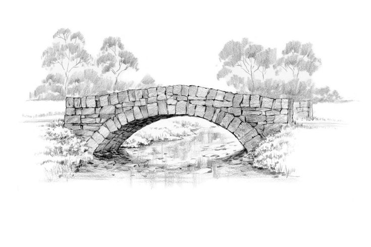 Old Stone Bridge Drawing images