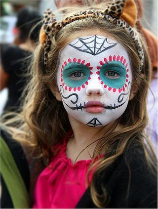 """we want to talk about Halloween Kids Makeup Ideas, So those who want to make their cute kids ready for a Halloween party must watch out full article. So checkout Cute Halloween Kids Makeup Ideas To Try This Year"""" Face Painting Halloween Kids, Halloween Makeup For Kids, Up Halloween, Kids Skeleton Face Paint, Sugar Skull Halloween, Halloween Facepaint Kids, Halloween Birthday, Birthday Ideas, Maquillage Sugar Skull"""