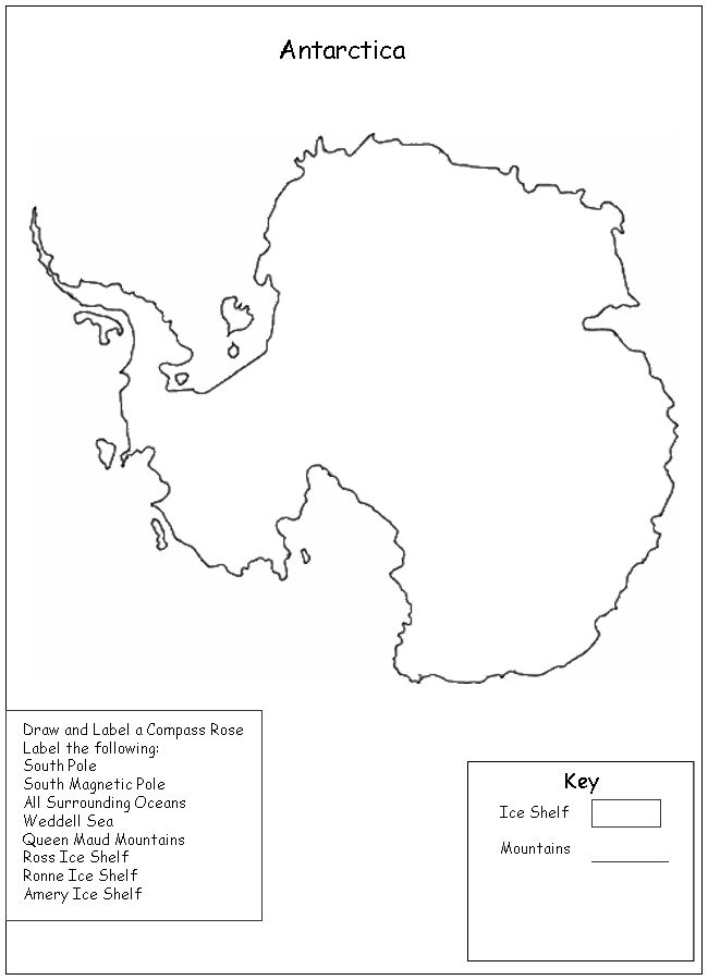 Antarctica Map Worksheet Homeschool Helper Homeschool