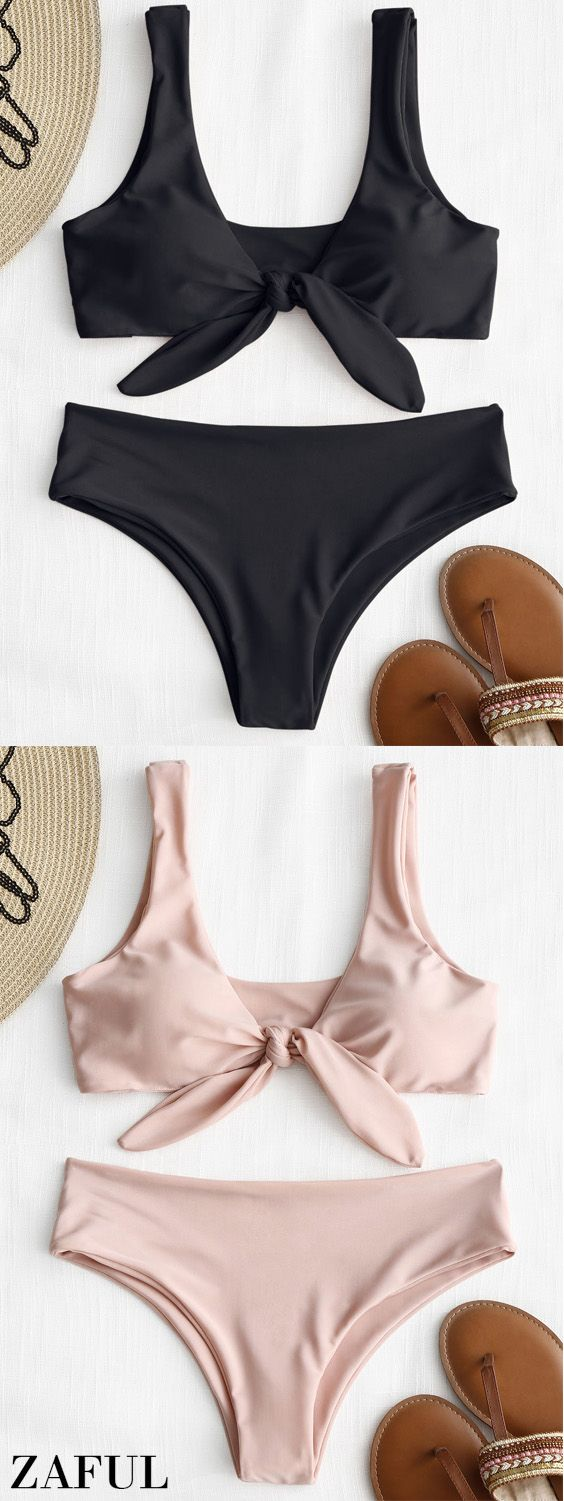 Up to 80% OFF! Front Knot Padded Bikini Set. #Zaful #Swimwear #Bikinis zaful,zaful outfits,zaful dresses,spring outfits,summer dresses,easter,super bowl,st patrick's day,cute,casual,fashion,style,bathing suit,swimsuits,one pieces,swimwear,bikini set,bikini,one piece swimwear,beach outfit,swimwear cover ups,high waisted swimsuit,tankini,high cut one piece swimsuit,high waisted swimsuit,swimwear modest,swimsuit modest,cover ups @zaful Extra 10% OFF Code:ZF2017
