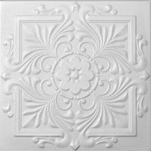 Styrofoam Victorian Ceiling Tile - goes over most ceilings and you can paint it.